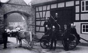 Stoßspritze mit Messingstiefel und Rohr von 1847
